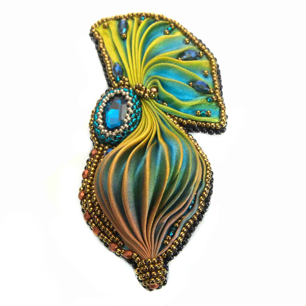 Peacock feather Brooch Pin